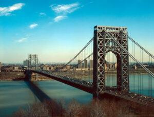 George Washington Bridge in New York, completed in 1931.
