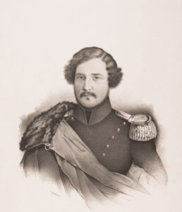 Druckgrafik von Giacomo Luvini, um 1840.