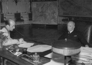 Fernand Gigon mit dem Tschechoslowakischen Präsidenten Edvard Beneš, 1945.