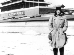 Fernand Gigon auf dem Tien-An-Men-Platz in Peking, 1956.
