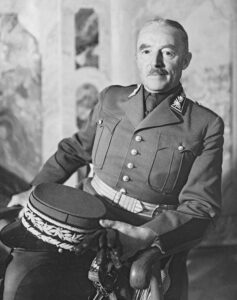 Portrait of Henri Guisan, photographed in the 1930s.
