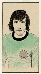Illustration of a football player.
