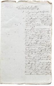 Constitution manuscrite du canton de Fricktal. Issu du dossier du conseiller d'État Josef Venerand Friderich (1771-1847).