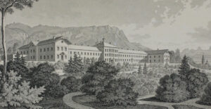 Die Heilanstalt Rosegg auf einer Lithografie von 1862.