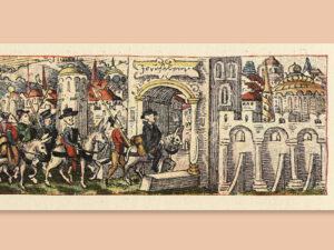 Entrée de Heinrich Wölfli à Jérusalem, 1520-1521.