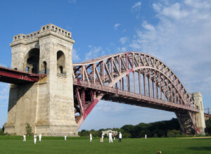 Hell Gate Bridge in New York, completed in 1916.
