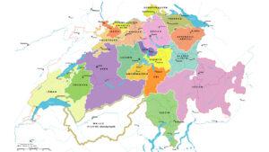 La République helvétique d'après la seconde Constitution helvétique du 25 mai 1802.
