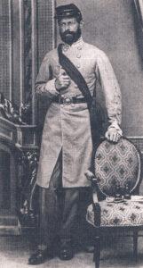 Portrait du capitaine Henry Wirz en uniforme de l'armée sudiste.