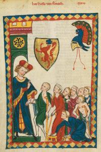 Codex Manesse, compilé vers 1310 à Zurich.