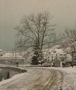 Sortie du village de Hirslanden vers 1889.