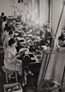 Hat production in Hüntwangen, early 20th century.