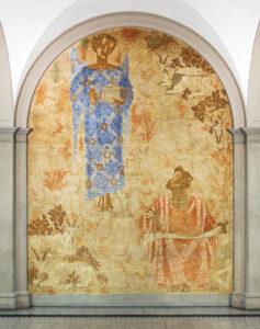«Iktinus», 1933, Wandmalerei in der Haupthalle des ETH Zentrums.