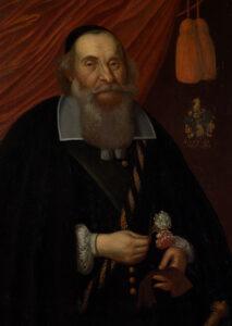 Portrait de Hans Friedrich Im Thurn, qui fut brutalement roué de coups par Christoph Ziegler et ses frères en 1654.