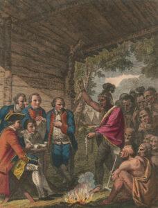 Indiens en négociations avec le colonel Bouquet en octobre 1764.