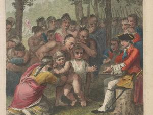 Les Anglais captifs livrés par les Indiens au colonel Bouquet en novembre 1764.