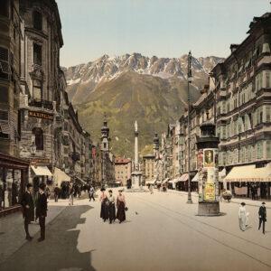Stadtansicht von Innsbruck.