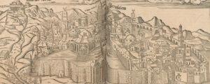 Jérusalem au 16ème siècle, Sebastian Münster: Cosmographiae universalis Lib.VI., 1552.