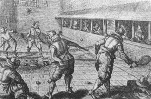 Jeu de Paume in Paris, 17th century.
