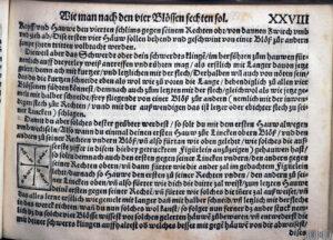 Seite aus Meyers Lehrbuch. Strassburg, 1570.