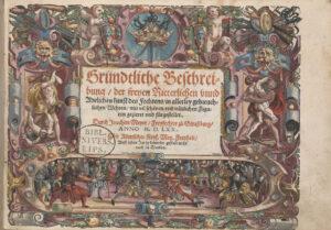 Titelseite aus Meyers Lehrbuch. Strassburg, 1570.