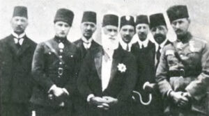 Rachid Osman (third from right) with members of the Turkish imperial family.