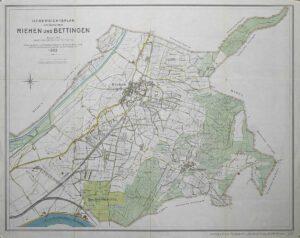 Die Eiserne Hand auf einer Karte von 1923.