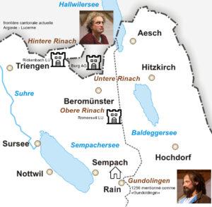 Les trois châteaux d'origine de la famille Reinach