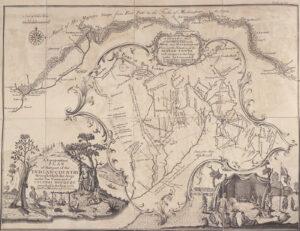 Carte des villages indiens le long des rivières Ohio et Mushkingham en relation avec le mouvement des troupes sous le commandement de Henry Bouquet.