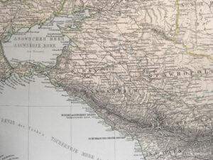 Karte von Südrussland um 1892.