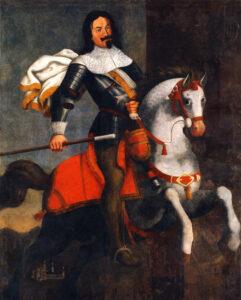 Kaspar Stockalper vom Thurm aus Brig, Gemälde seines Schwiegersohnes Georges Christophe Manhaft aus dem Jahr 1672.