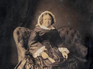 Fotoporträt Katharina Morel, um 1870.
