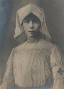 La reine Elisabeth de Belgique en tant qu'infirmière pendant la Première Guerre mondiale.