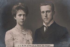 La reine Elisabeth de Belgique et le roi Albert Ier de Belgique, vers 1909.