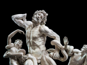 Laocoön group, plaster cast from the early 19th century based on the ancient marble original in the Vatican.