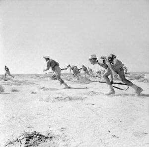 Foreign legionnaires attack, Bir Hakeim, 1942.