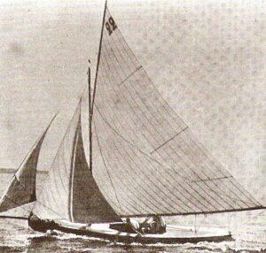 Die «Lerina», aufgenommen bei einer Regatta in Cannes im Frühjahr 19oo.