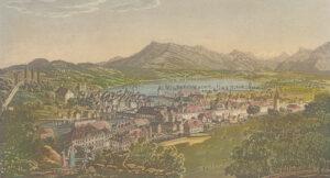 Ansicht der Stadt Luzern, um 1840.