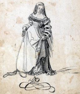 Dessin d'une fille, 1518.