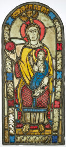 The oldest surviving medieval glass painting in Switzerland: Mary with Child, around 1200, St.Jakobskapelle, Flums SG.