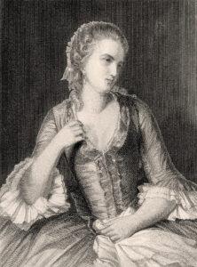 Portrait de Madame Beaumarchais, née Willermaulaz, jeune âge.