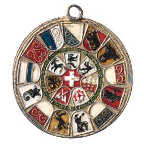 Médaille historique, connue sous le nom de Bundestaler de Jakob Stamper, XVIesiècle.