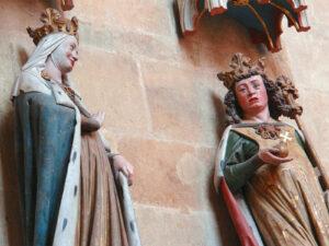 Statuen von Adelheid und König Otto im Meissner Dom (Sachsen), vom Naumburger Meister.