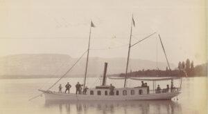 Die «Minnehaha» Ende des 19. Jahrhunderts auf dem Genfersee.