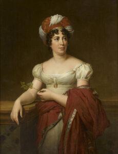 Die Schriftstellerin Germaine de Staël (1766-1817), Tochter von Suzanne und Jacques Necker.