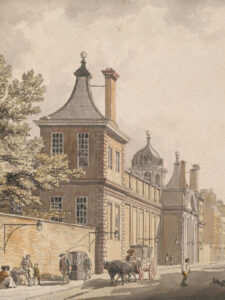 Montagu House, where the British Museum first opened its doors to the public in 1759.