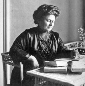 Maria Montessori, photographed in 1913.