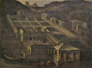 Paolo Giovio's museo in a 17th-century painting by an unknown artist.