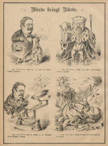 The Nebelspalter published venomous cartoons of Fridolin Anderwert on 18 December 1880.