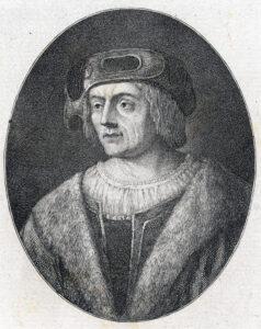 Portrait de Niklaus Manuel Deutsch, créé par Heinrich Pfenninger, 1783.