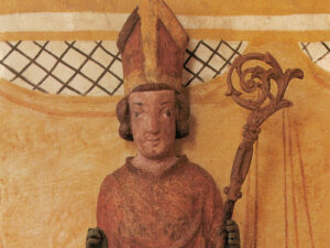 Nicholas, statue in the chapel of St Niklausen near Kerns (Canton of Obwalden), around 1350/1375 (detail).